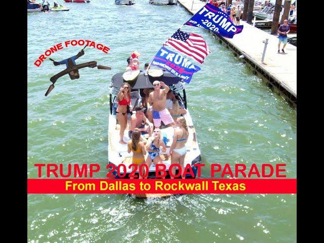 Lake Ray Hubbard Rockwall TX: July 25: Hundreds of boats, thousands of patriots... TX MAGA!