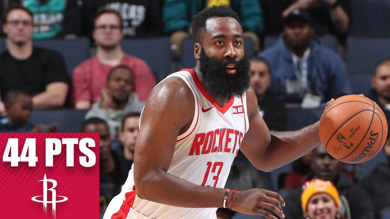 James Harden erupts for 44 points in Rockets-Grizzlies showdown   2019-20 NBA Highlights