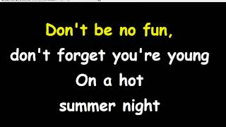 Hot in the City (Lyrics+Karaoke) - Billy Idol
