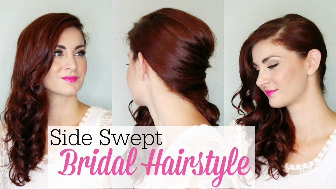 how to style side swept hair side swept bridal style 7210