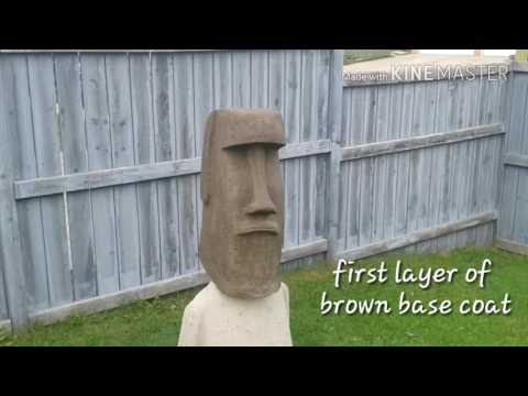 Carving A Foam Moai - Days 3-6 (eps Poly Styrene)