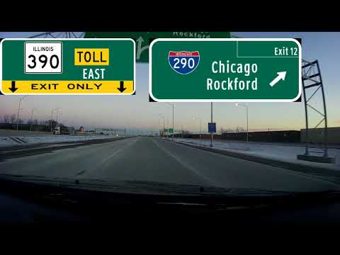 (Dashcam Drive) Introducing The Illinois Route 390 Tollway