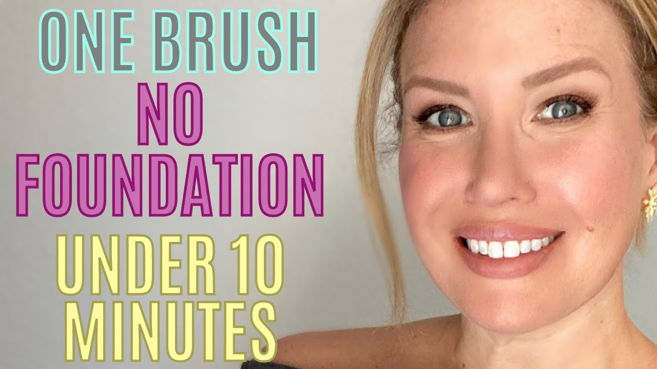 GET GLOWING...FAST! UNDER 10 MINUTE MAKEUP ROUTINE | NO FOUNDATION | Risa Does Makeup