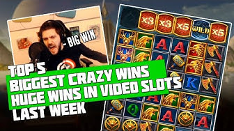 TOP 5 BIGGEST CRAZY WINS IN CASINO | BIG JACKPOT | HUGE WINS IN VIDEO SLOTS LAST WEEK - 2019 DEC #2
