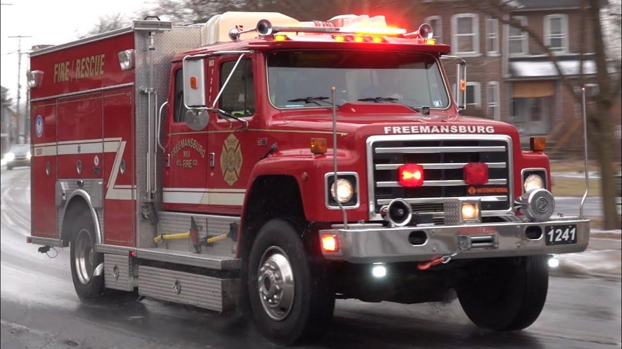 Freemansburg Fire Company Rescue 1241 Responding