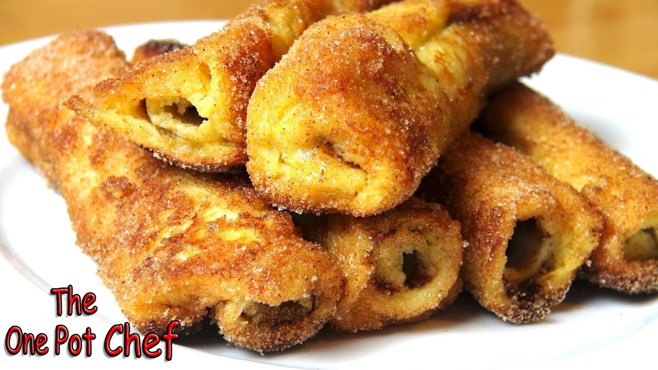 Nutella French Toast Rolls | One Pot Chef - YouTube