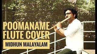 Midhun malayalam - Poomaname   Flute cover   Nirakoot  