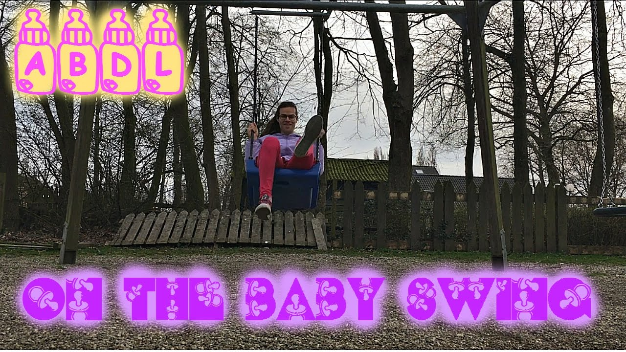 Baby Swing Schommel.Abdl On The Baby Swing Youtube