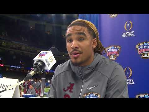 Jalen Hurts at Sugar Bowl 2018 Media Day