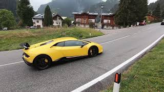Supercars And Tuners Leaving Car Meet - Dolomites Street IX 2018 PURE SOUND