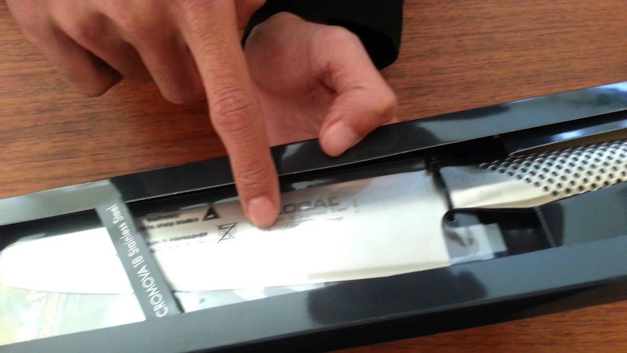 Unboxing: Global Japan Cromova 18 Knife G 2   YouTube