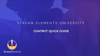 StreamElements Chatbot Overview thumbnail