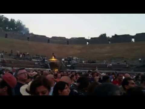 David Gilmour At The Roman Amphitheater Pompeii 07.07.2016