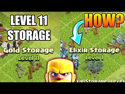 LEVEL 11 GOLD STORAGE BUT ELIXIR STORAGE STILL LEVEL 1😲HOW IT'S POSSIBLE?