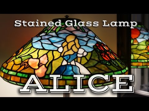 Making of a Tiffany Style Stained Glass Lamp ALICE (Disney Alice in Wonderland)