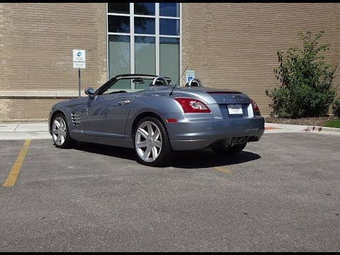 2007 Chrysler Crossfire Convertible in Silver Blue & Engine Sound on My Car Story with Lou Costabile
