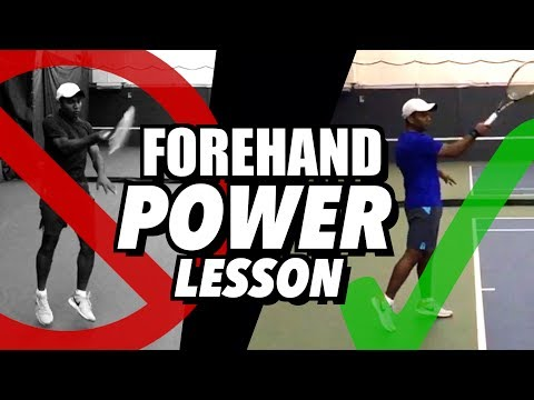 Forehand POWER Tennis Lesson - Kinetic Chain Technique like Federer