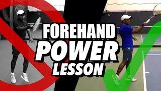 Forehand POWER Tennis Lesson - Kinetic Chain Technique like Federer
