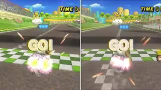 [MKW Comparison] Luigi Circuit - Rocky VS Thomas (TAS)