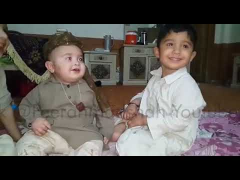 Cute Ahmad Shah ka bachpan latest video❤4