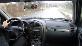 Driving a Citroën Xsara hatchback 2004 1.6 16v