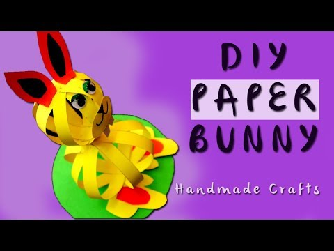 How to Make a Paper Rabbit | Easy Kid Craft | Looke Art and Craft