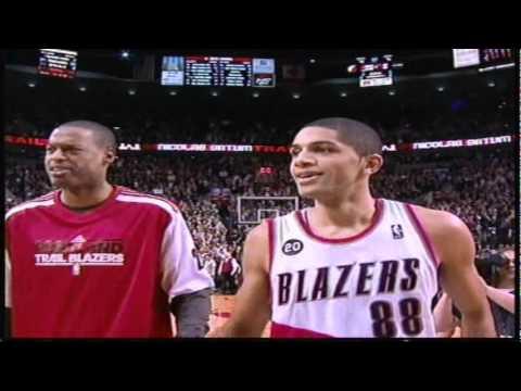 Nicolas Batum Game Winner, Spurs Vs Blazers 3-25-11