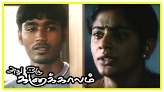 Adhu Oru Kana Kaalam Tamil Movie - Dhanush misbehaves with Priyamani