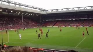 Andy Carroll missed header vs Bayer Leverkusen