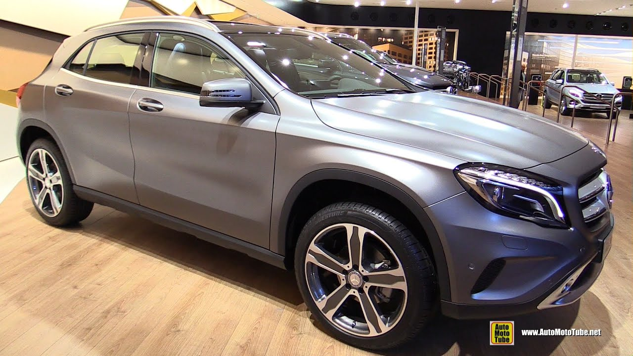 2016 mercedes gla 200d 4matic exterior and interior walkaround 2015 frankfurt motor show. Black Bedroom Furniture Sets. Home Design Ideas