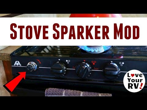 RV Gas Stove Mod Upgraded The Mechanical Igniter To