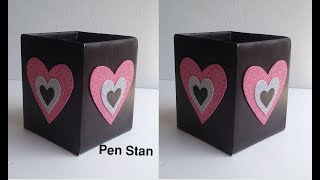 How to make a paper Pen Stand || Origami Pen Holder || Paper Pencil Holder || Hexagonal Pen Holder