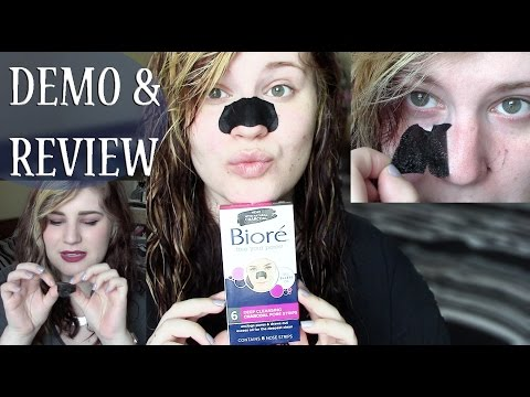 Biore Deep Cleansing Charcoal Pore Strips Demo & Review