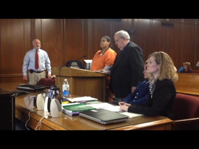 Judge John McBain explodes at Camia Gamet during murder sentencing