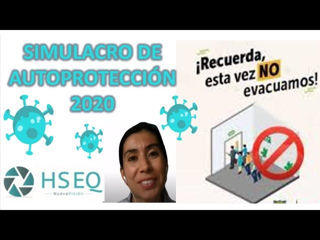 Simulacro de autoprotección año 2020 #SimulacroDistritalDeAutoprotección - simulacro distrital 2020