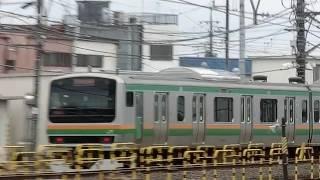 東北本線E231系10+5両 栗橋駅離合 thumbnail
