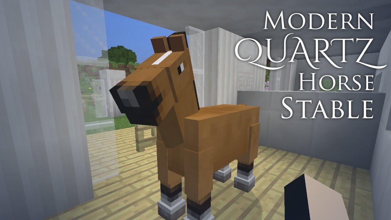 Modern Quartz Horse Stable Minecraft YouTube