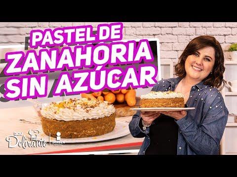 😍🎂¡Delicioso Pastel De Zanahoria SIN AZÚCAR Y NUTRITIVO!   Hasta la cocina   Cocina Delirante
