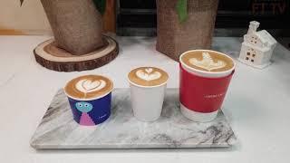 꿀팁) 다양한 테이크아웃컵 라떼아트 latte art …