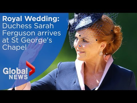 Royal Wedding: Sarah Ferguson, Duchess of York arrives at Windsor Castle