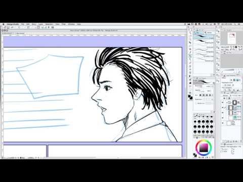 망가 스튜디오 한국어 강좌 Manga Studio EX Korean Study (Clip Studio) #5