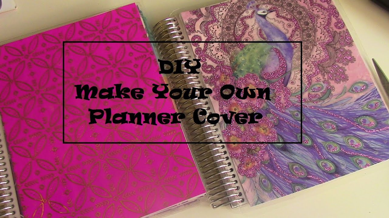 how to make your own planner cover for erin condren life planner diy youtube