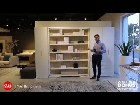 Clei Furniture Transformation - From bookcase to bed in under 30 secs.