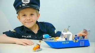 Полицейский Катер COBI и Полицейский Даник. Хороший конструктор для детей