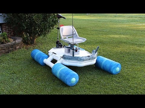 Homemade Fishing Boat With Foldable Pontoons