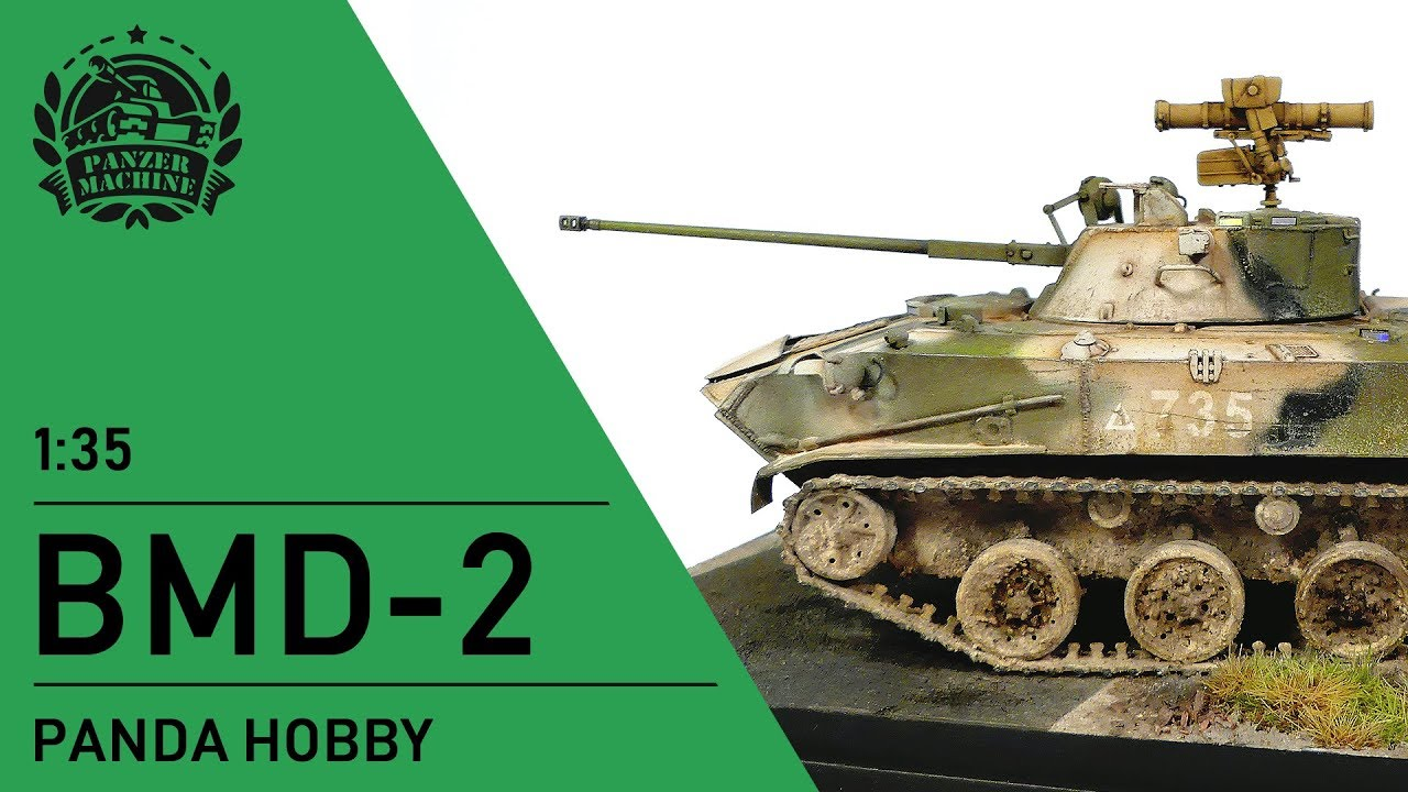 Painting and weathering 1/35 Panda Hobby BMD-2 and making simple base with  AMMO products