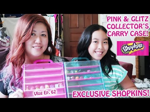 SHOPKINS PINK & GLITZ COLLECTOR'S CARRY CASE UNBOXING AND REVIEW | Singapore | Vlog Ep 62