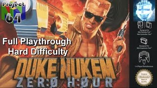 Duke Nukem: Zero Hour Full Playthrough on Hard (Project 64)