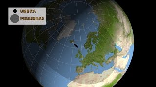 Solar Eclipse over Europe on 20 March 2015