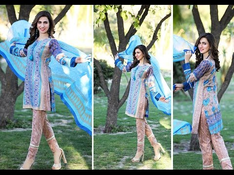 Mahae Lawn Suits Collection 2017 by By Shariq Textiles